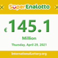 Results of SuperEnalotto lottery on April 27, 2021; Jackpot raises to €145.1 million