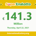 Results of SuperEnalotto lottery on April 20, 2021; Jackpot raises to €141.3 million