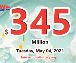 Mega Millions jackpot is waiting the owner, It is $345 million now