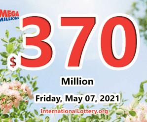 Mega Millions rewared 4 second prizes; Jackpot raises to $370 million