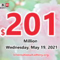 2021/05/15: A new millionaire; Powerball jackpot climbs to $201 million