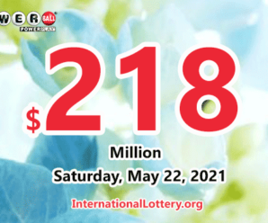Powerball results for 2021/05/19; Jackpot swells to $218 million