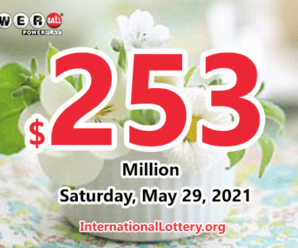 A second prize belonged Powerball player; Jackpot rolls to $253 million