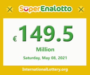 The jackpot SuperEnalotto officially stands at 149.5 million Euro for the next drawing