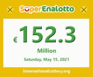 SuperEnalotto jackpot raises continuously to €152.3 million