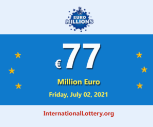 5 players won the second prizes; EuroMillions lotteryjackpot is €77 million
