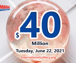 Mega Millions results for 2021/06/18 – Jackpot stands at $40 million