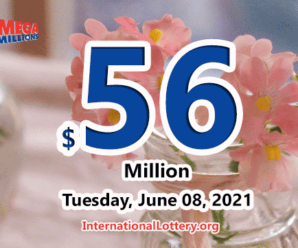 Mega Millions results for 2021/06/04; Jackpot stands at $56 million
