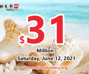 Powerball results of June 09, 2021; Jackpot is $31 million