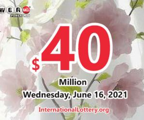Powerball results of June 12, 2021; Jackpot raises to $40 million