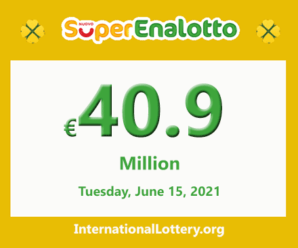 SuperEnalotto jackpot raises continuously to €40.9 million for the next drawing