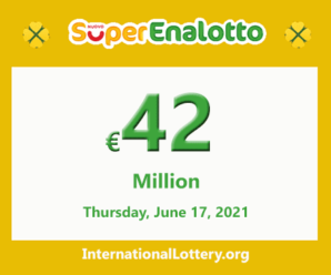Results of SuperEnalotto lottery on June 15, 2021; Jackpot is €42 million