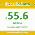 The jackpotSuperEnalottoraises to €55.6 million for July 17, 2021