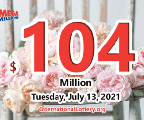Mega Millions results for 2021/07/09; Jackpot stands at $104 million