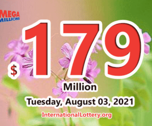 Mega Millions jackpot is waiting the owner, It is $179 million now