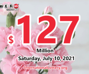 Powerball results for 2021/07/07 – $127 million Jackpot is waiting for the owner