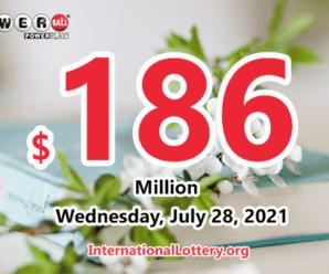 7 million-dollars prizes appear – Powerball jackpot rises to $186 million