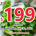 Results of July 28, 2021 – Now, $199 million Powerball jackpot is largest in the world