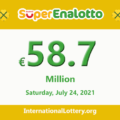 Jackpot SuperEnalotto is becoming hotter with €58.7 million Euro