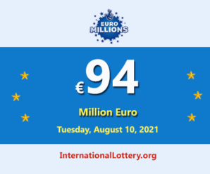 8 players won the second prizes; EuroMillions LotteryJackpot is €94 million