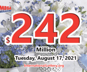 Mega Millions jackpot is waiting the owner, It is $242 million now
