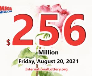 A new millionaire – Mega Millions jackpot jumps to $256 million