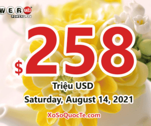 Powerball results of August 11, 2021 – 5 players won the second prizes