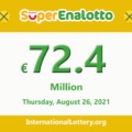 Results of SuperEnalotto lottery on August 24, 2021; Jackpot raises to €72.4 million