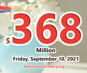 New York player win $1 million; Mega Millions jackpot rises to $368 million