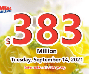 2 winners got $1 million prizes; Mega Millions jackpot raises to $383 million