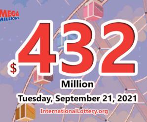 New Jersey player win $1 million; Mega Millions jackpot rises to $432 million