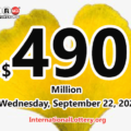 2021/09/20: Two players win the second prizes; Powerball jackpot climbs to $490 million