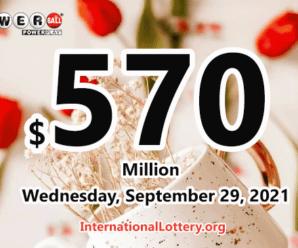 $2 million of Powerball belongs to Virginia player on September 27, 2021