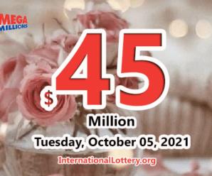 Mega Millions results of October 01, 2021 – Jackpot is at $45 million