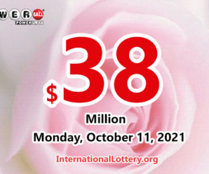 Powerball results of October 09, 2021; Jackpot is $38 million
