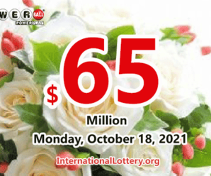 The result of Powerball lottery on October 16, 2021 – Jackpot is $65 million